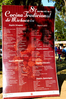 La cuisine traditionnelle de Michoacán est très reconnue. Au delà de 40 exposants! — Traditional Michoacán cooking is well reknown in Mexico. More than 40 exhibitors from the State showed up!