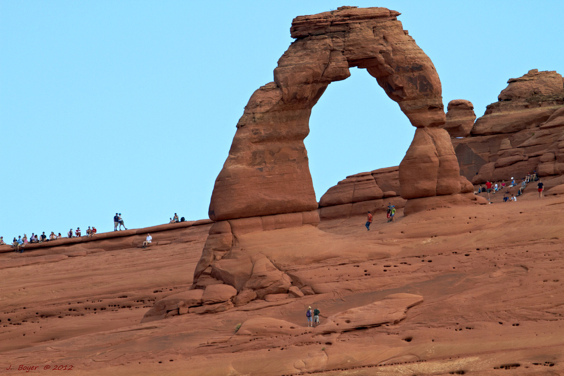 Crowded Delicate Arch - Arches National Park